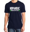Hopaholic Drink Craft Not Crap Beer T-Shirt on Model