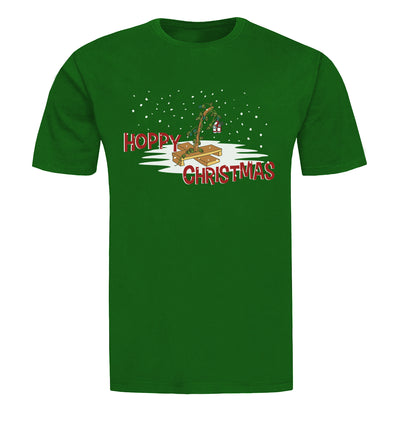 Hoppy Christmas Beer T-Shirt flat
