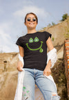 Women's Hoppy Happy Smile T-Shirt Action Shot