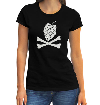 Women's Hops and Crossbones T-Shirt on Model