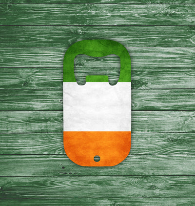 Irish Flag Metal Square Bottle Opener