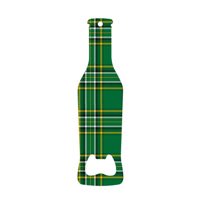 Irish Tartan Beer Bottle Shaped Killt Bottle Opener
