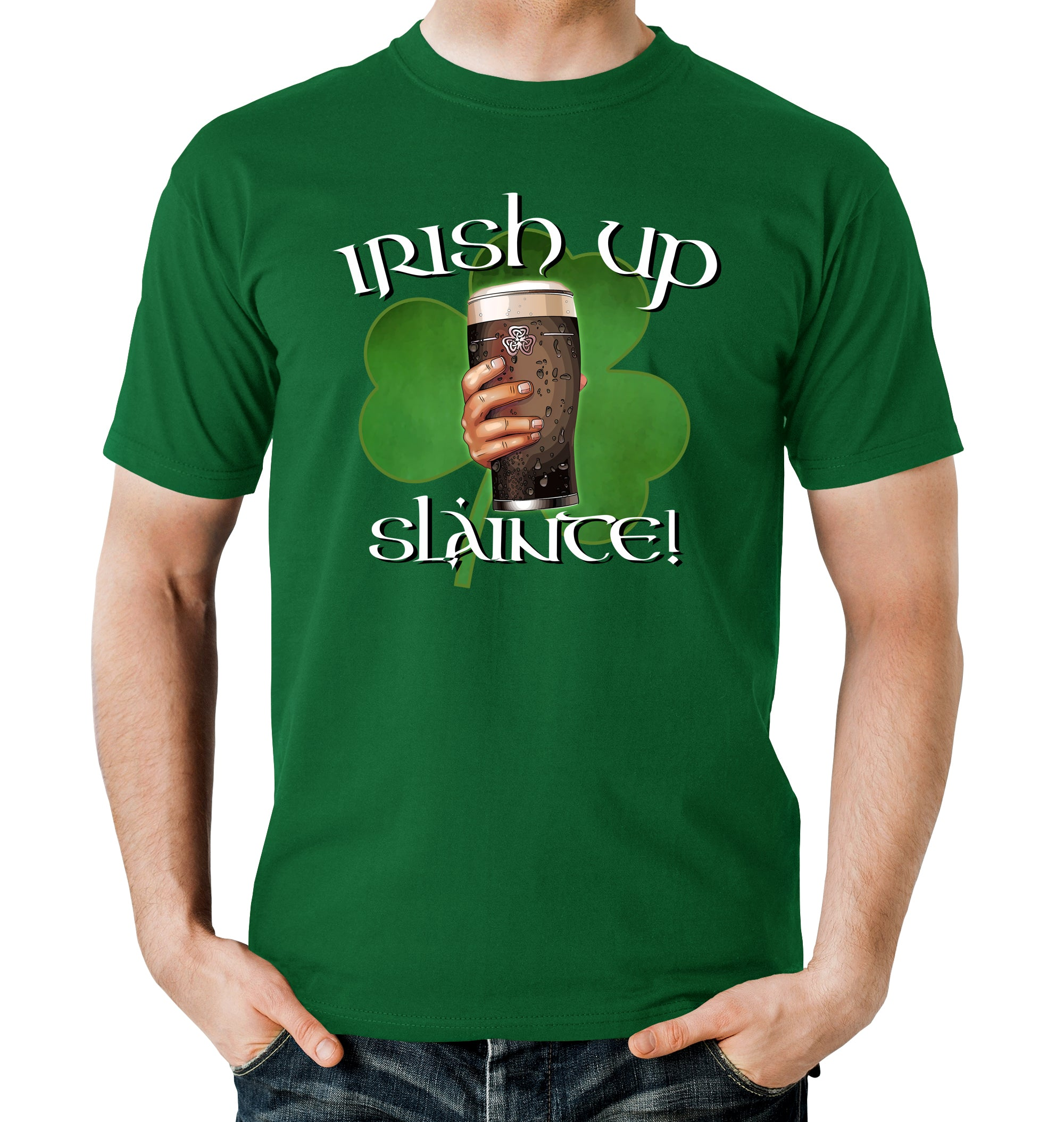 a2db296d Irish Up Slainte St. Patrick's Day T-Shirt - BrewSwag