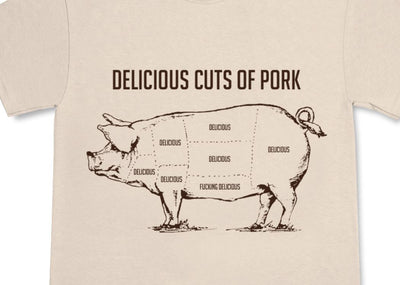 Cuts of Pork Fucking Delicious T-Shirt