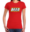 Beer Brick T-Shirt on Female Model