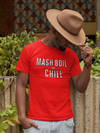 Mash, Boil and Chill Homebrewing Craft Beer T-Shirt Action Shot
