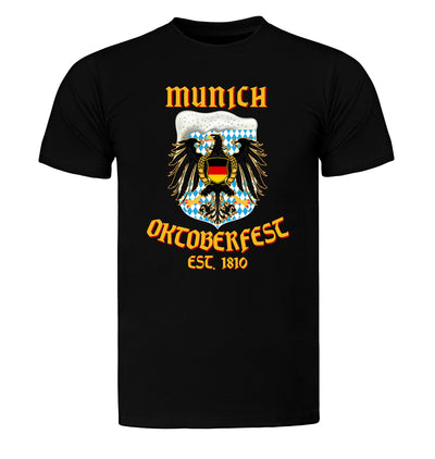 Munich Oktoberfest Eagle Beer T-Shirt Flat