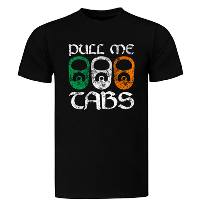 Pull Me Tabs St. Patrick's Day T-Shirt Flat