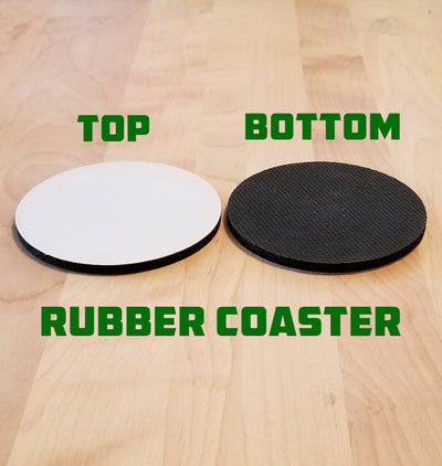 Blank Rubber Coaster Sample