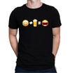 Sad Face + Beer = Happy Face Emoji T-Shirt on Model
