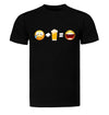 Sad Face + Beer = Happy Face Emoji Beer T-Shirt Flat Image