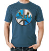 Skal Steel Blue T-Shirt on Model
