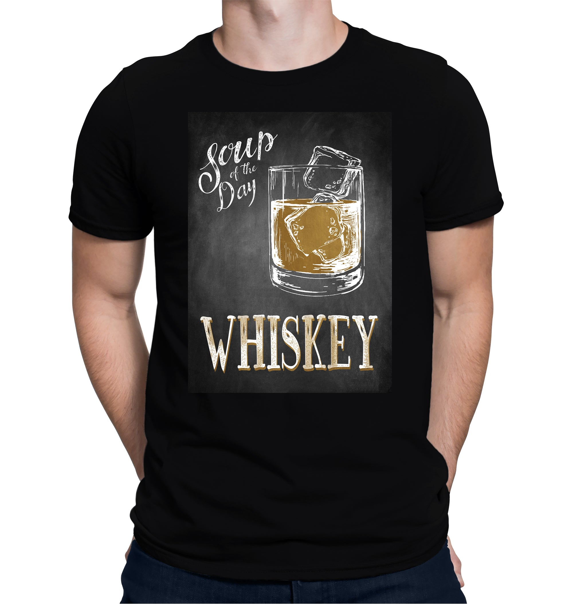 Soup of the Day, Whiskey T-Shirt on Model