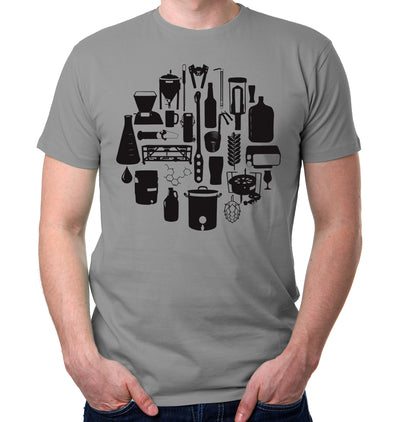 Tools of the Trade Homebrew Craft Beer T-Shirt on Model