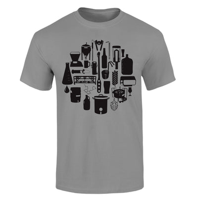 Tools of the Trade Homebrew Craft Beer T-Shirt Flat