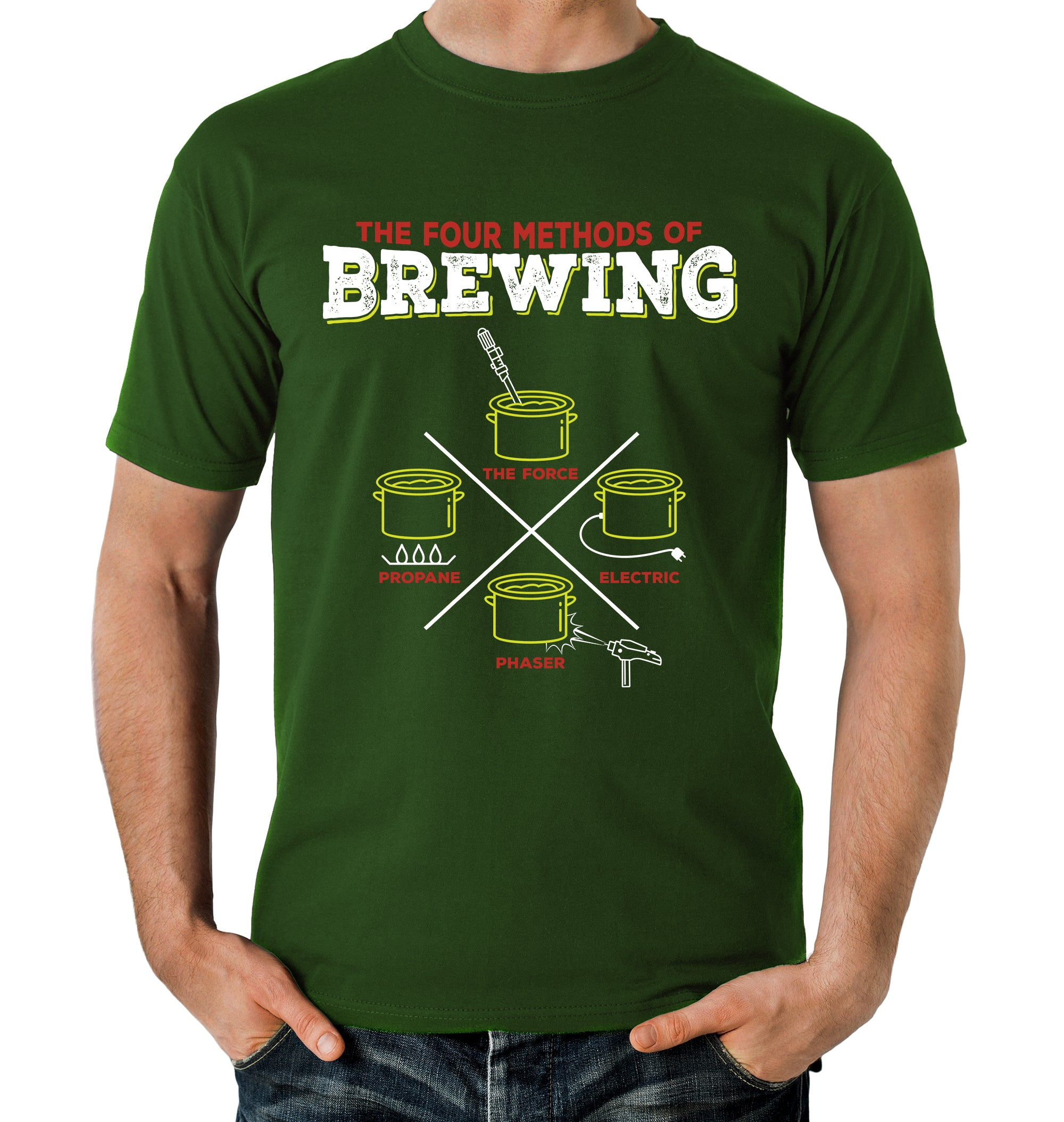 4 Methods of Brewing T-Shirt on Model