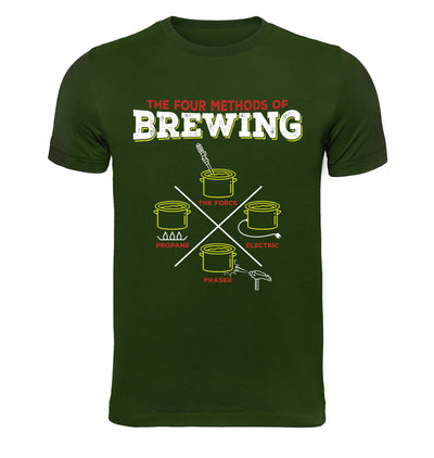 4 Methods of Brewing T-Shirt Flat