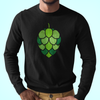Stained Glass Hop Cone Craft Beer Longsleeve T-Shirt