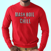Mash, Boil and Chill Homebrew Longsleeve T-Shirt