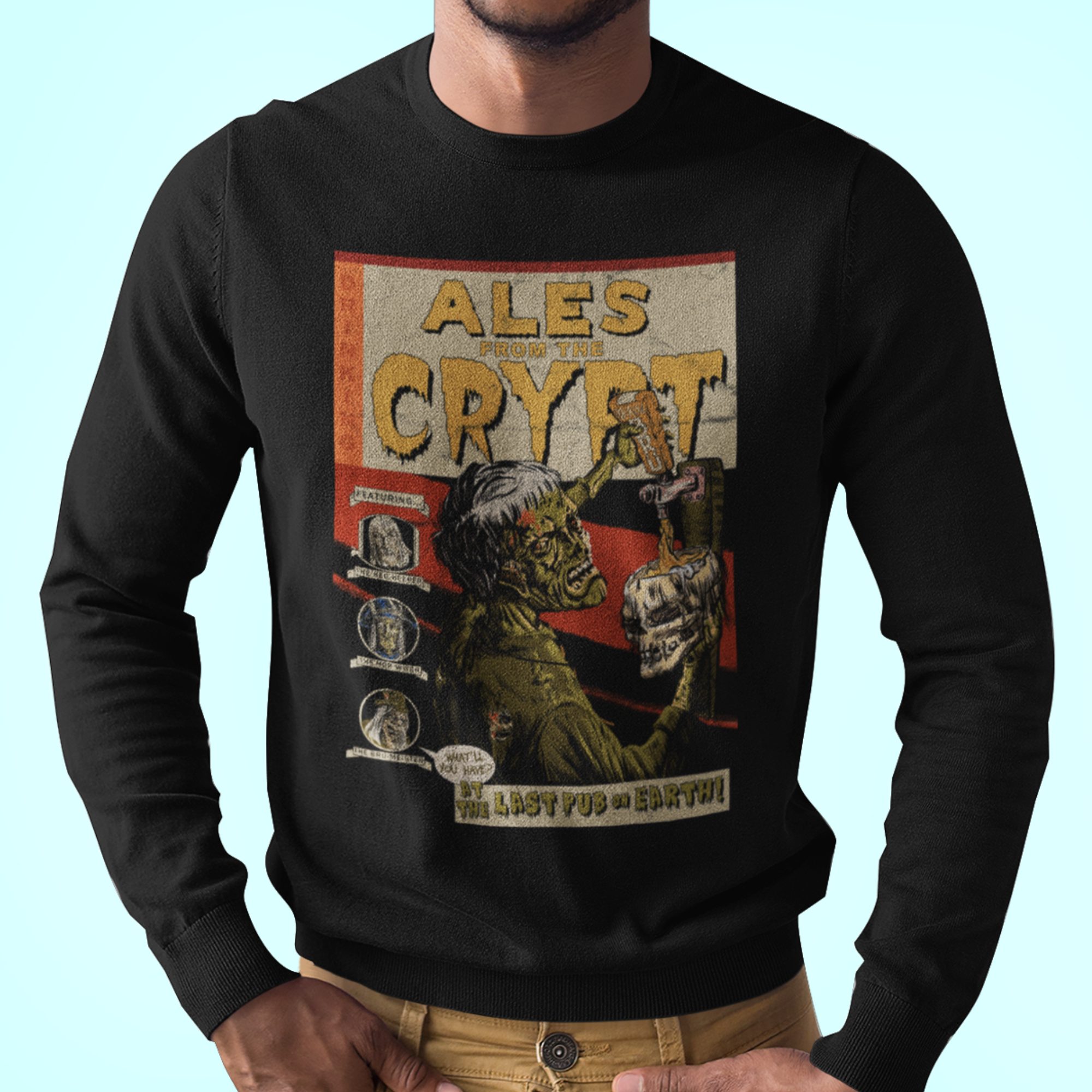 Ales From The Crypt Zombie Pub Crawl Longsleeve T-Shirt