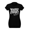 Whiskey Makes me Frisky T-Shirt Flat