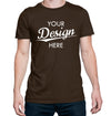 Custom Homebrewery  Logo on a Brown T-Shirt