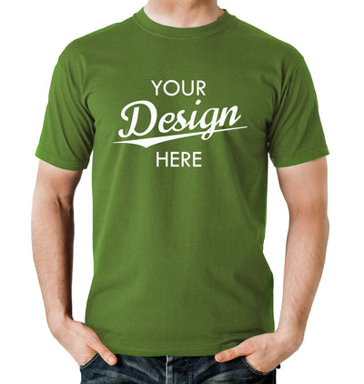 Custom Homebrewery  Logo on a Green T-Shirt