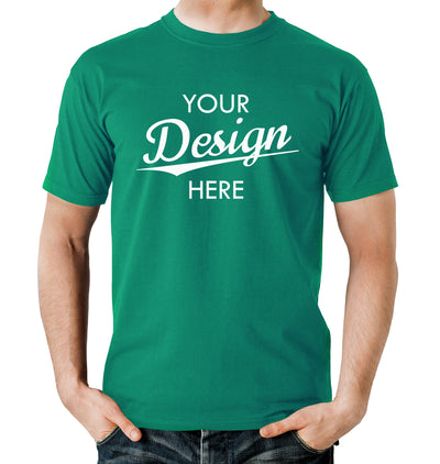 Custom Homebrewery  Logo on a Kelly Green T-Shirt