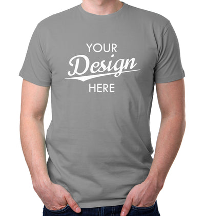 Custom Homebrewery  Logo on a Gray T-Shirt