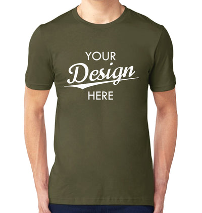 Custom Homebrewery  Logo on a Military Green T-Shirt