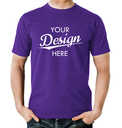 Custom Homebrewery  Logo on a Purple T-Shirt