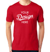 Custom Homebrewery  Logo on a Red T-Shirt