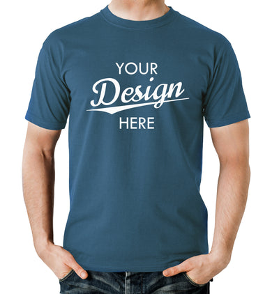 Custom Homebrewery  Logo on a Blue T-Shirt