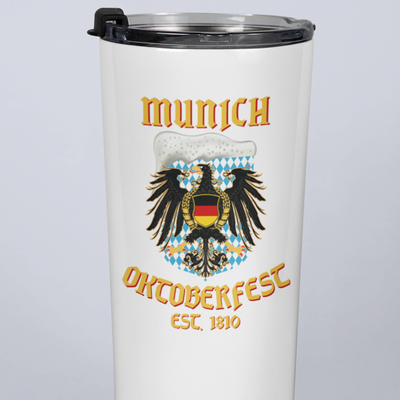 Munich Oktoberfest Eagle Beer 20oz Travel Mug