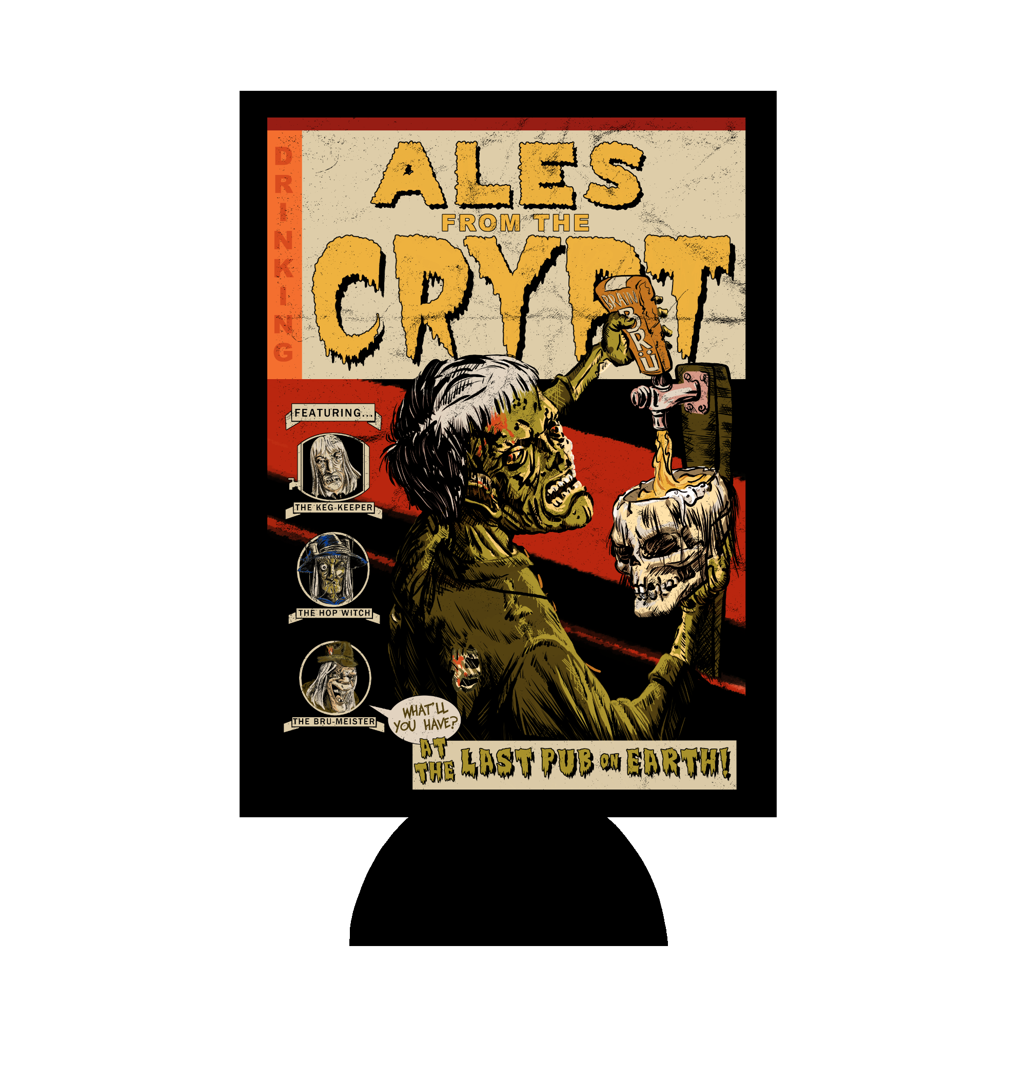 Ales From The Crypt Zombie Pub Crawl Can Hugger