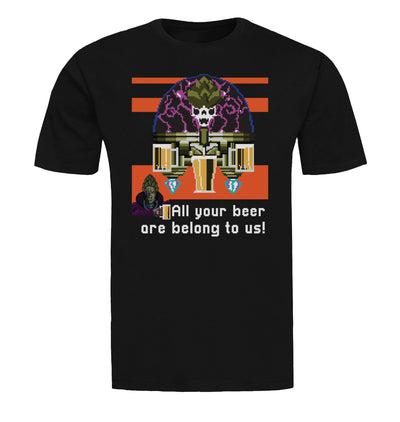 All Your Beer are Belong to Us Beer T-Shirt Flat