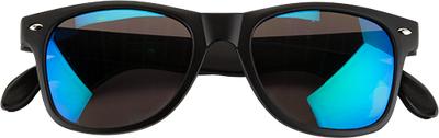 matte black sunglasses folded with bottle openers