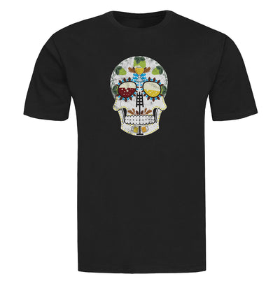 The Brewers Sugar Skull Craft Beer T-Shirt Flat