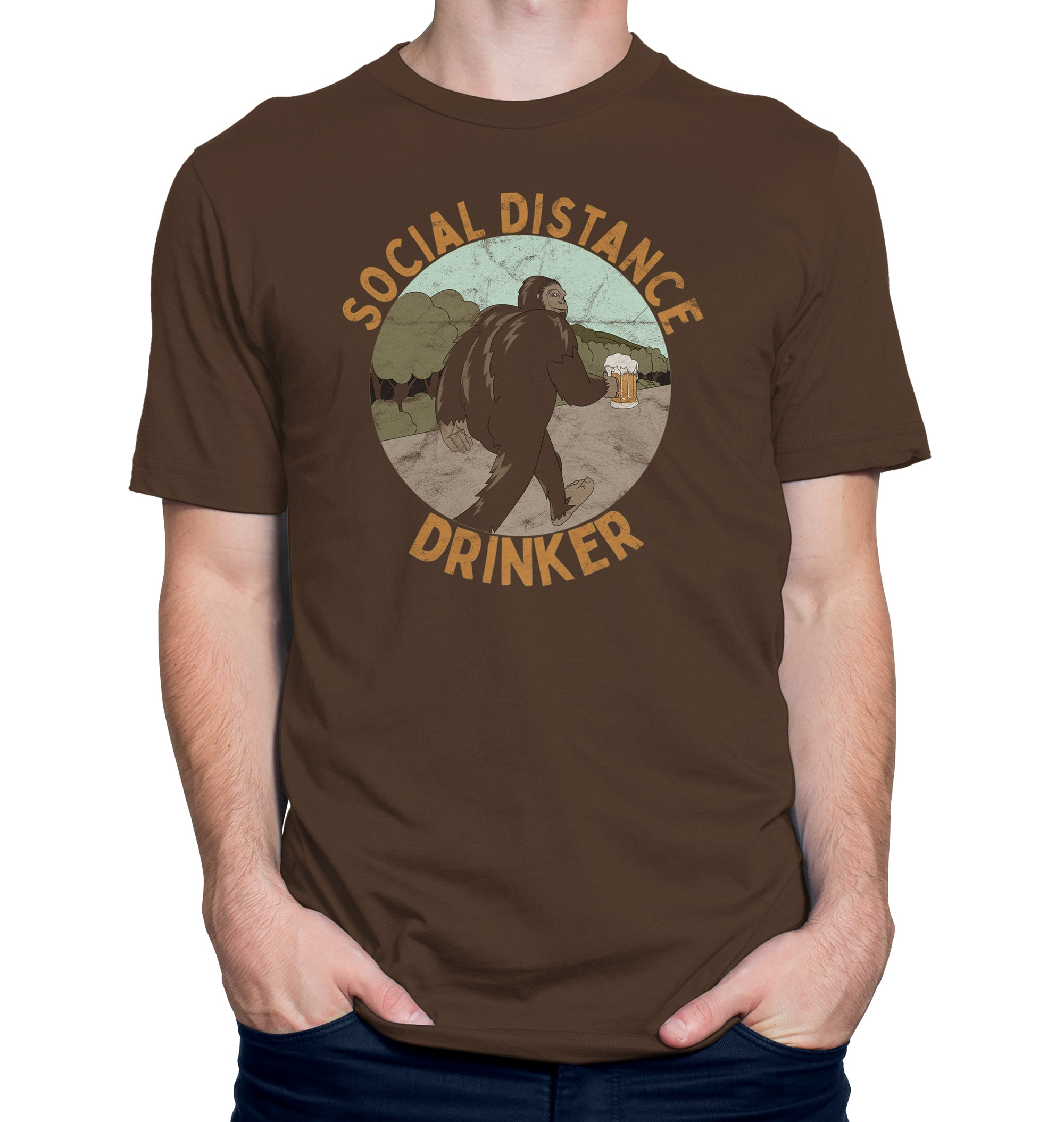Social Distance Drinker Beer T-Shirt