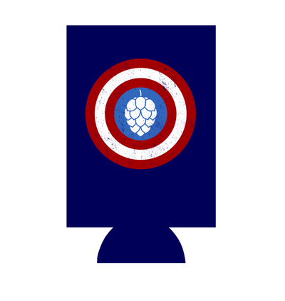 Captain Hop Cone America Shield Can Hugger