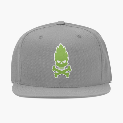 Hop Skull and Crossbones Craft Beer Flatbill Hat