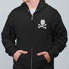 Hops and Crossbones Craft Beer Zip Up Hoodie