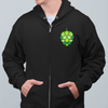 Stained Glass Hop Cone Craft Beer Zip Up Hoodie