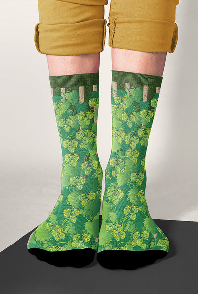 Hop-Bines Growing Craft Beer Socks