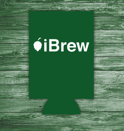 iBrew Can Hugger Action Shot Green