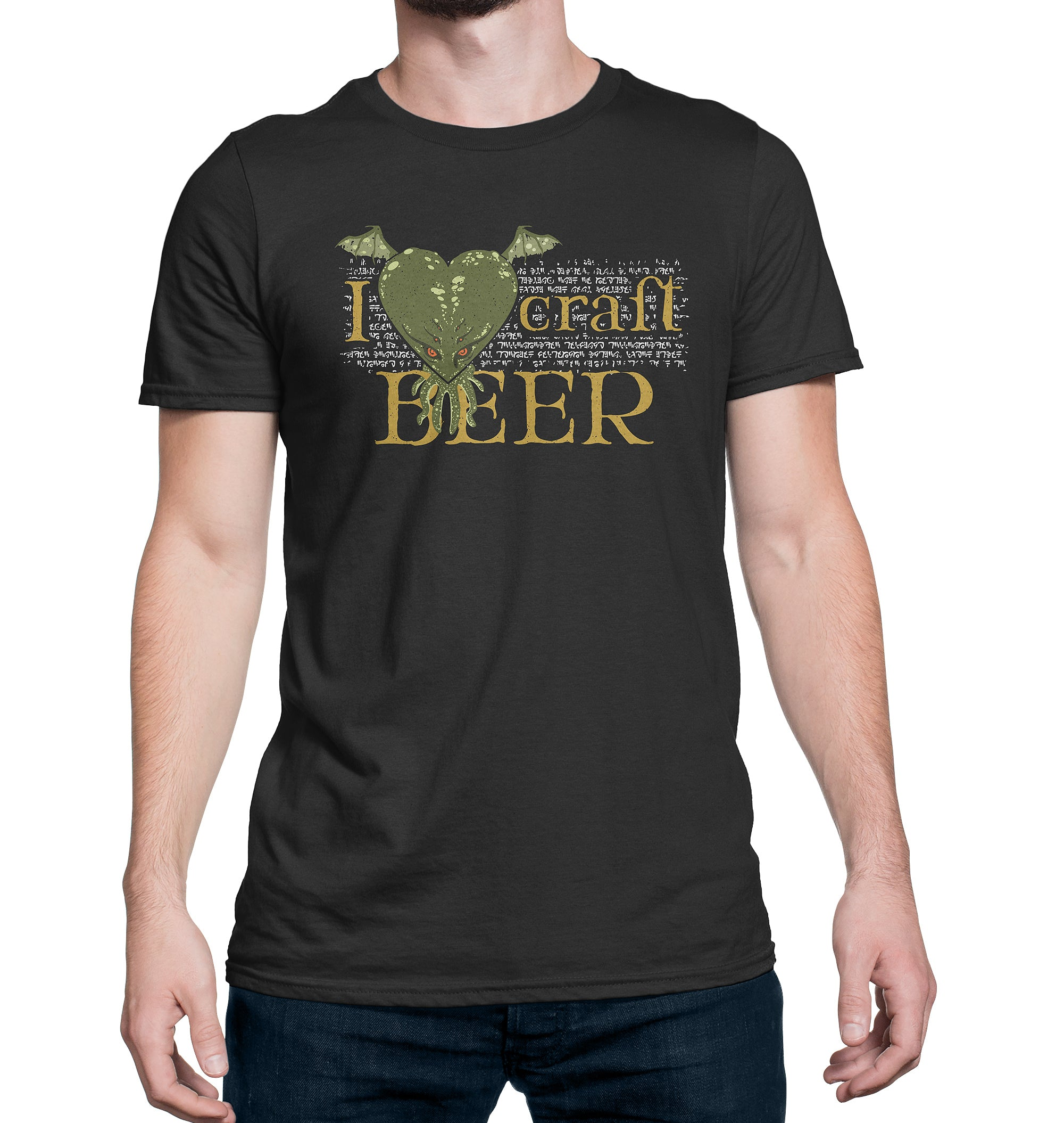 I LoveCRAFT Beer T-Shirt on Model