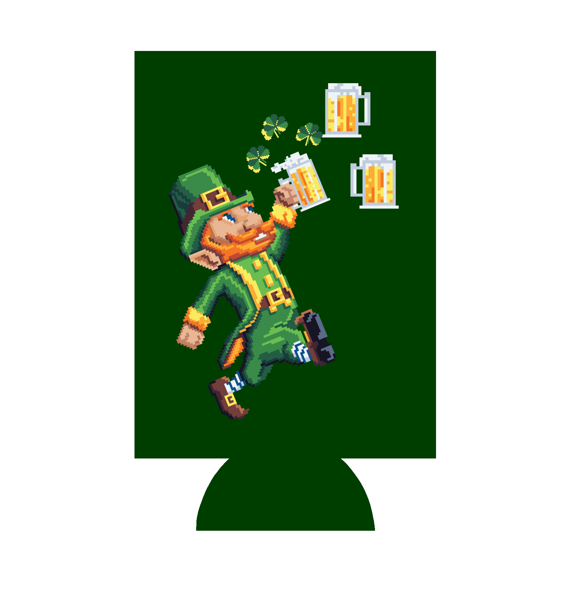 8-Bit Leprechaun St. Patrick's Day Can Hugger