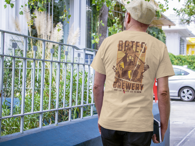 Bates Brewery Beer T-Shirt - Beer Like Mother Used to Brew action shot