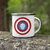 Captain Hop Cone America Shield 11oz Stainless Steel Camping Mug