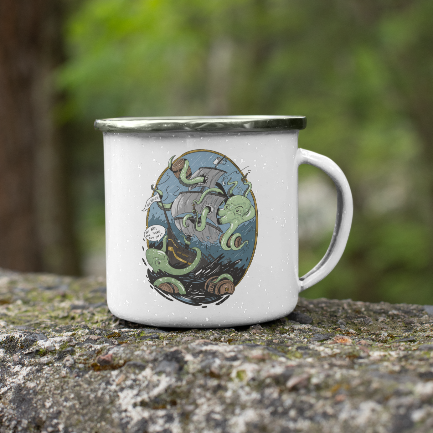 Giant Octopus Wants Beer 11oz Stainless Steel Camping Mug